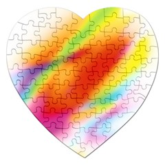 Blur Color Colorful Background Jigsaw Puzzle (Heart)