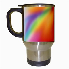 Blur Color Colorful Background Travel Mugs (White)