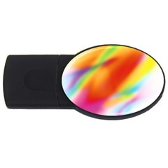 Blur Color Colorful Background Usb Flash Drive Oval (4 Gb)
