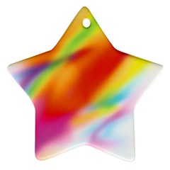 Blur Color Colorful Background Star Ornament (Two Sides)