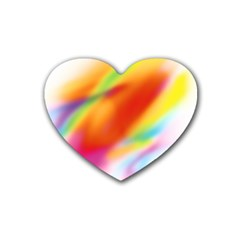 Blur Color Colorful Background Heart Coaster (4 Pack)