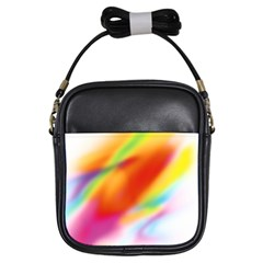 Blur Color Colorful Background Girls Sling Bags
