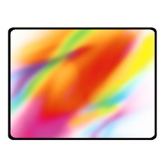 Blur Color Colorful Background Fleece Blanket (Small)