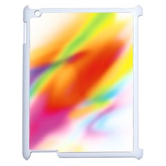 Blur Color Colorful Background Apple iPad 2 Case (White)
