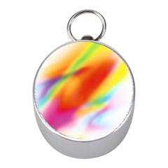 Blur Color Colorful Background Mini Silver Compasses