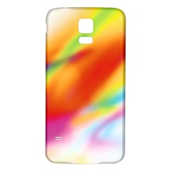 Blur Color Colorful Background Samsung Galaxy S5 Back Case (White)