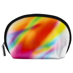 Blur Color Colorful Background Accessory Pouches (large)