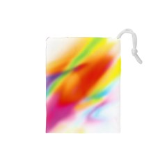 Blur Color Colorful Background Drawstring Pouches (small)