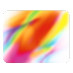 Blur Color Colorful Background Double Sided Flano Blanket (large)
