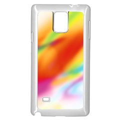 Blur Color Colorful Background Samsung Galaxy Note 4 Case (White)