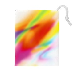 Blur Color Colorful Background Drawstring Pouches (Extra Large)