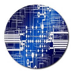 Board Circuits Trace Control Center Round Mousepads
