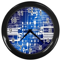 Board Circuits Trace Control Center Wall Clocks (Black)
