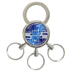 Board Circuits Trace Control Center 3-Ring Key Chains