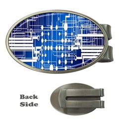 Board Circuits Trace Control Center Money Clips (Oval)