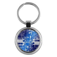 Board Circuits Trace Control Center Key Chains (round)