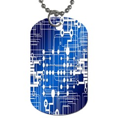 Board Circuits Trace Control Center Dog Tag (One Side)