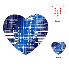 Board Circuits Trace Control Center Playing Cards (Heart)