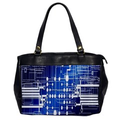 Board Circuits Trace Control Center Office Handbags