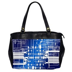 Board Circuits Trace Control Center Office Handbags (2 Sides)