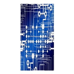 Board Circuits Trace Control Center Shower Curtain 36  x 72  (Stall)