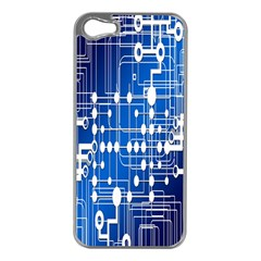 Board Circuits Trace Control Center Apple iPhone 5 Case (Silver)