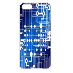 Board Circuits Trace Control Center Apple iPhone 5 Seamless Case (White)