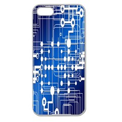 Board Circuits Trace Control Center Apple Seamless Iphone 5 Case (clear)