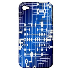 Board Circuits Trace Control Center Apple iPhone 4/4S Hardshell Case (PC+Silicone)