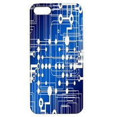 Board Circuits Trace Control Center Apple iPhone 5 Hardshell Case with Stand