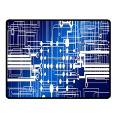 Board Circuits Trace Control Center Double Sided Fleece Blanket (Small)