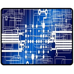 Board Circuits Trace Control Center Double Sided Fleece Blanket (Medium)