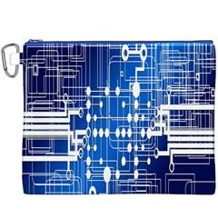 Board Circuits Trace Control Center Canvas Cosmetic Bag (XXXL)