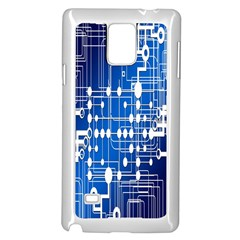 Board Circuits Trace Control Center Samsung Galaxy Note 4 Case (White)