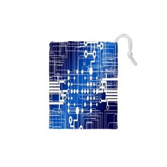 Board Circuits Trace Control Center Drawstring Pouches (XS)