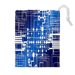 Board Circuits Trace Control Center Drawstring Pouches (Extra Large)