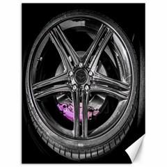 Bord Edge Wheel Tire Black Car Canvas 12  x 16