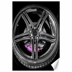 Bord Edge Wheel Tire Black Car Canvas 12  x 18