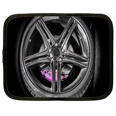 Bord Edge Wheel Tire Black Car Netbook Case (XL)