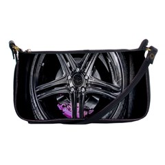 Bord Edge Wheel Tire Black Car Shoulder Clutch Bags
