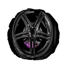 Bord Edge Wheel Tire Black Car Standard 15  Premium Round Cushions