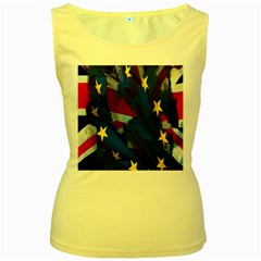 Brexit Referendum Uk Women s Yellow Tank Top