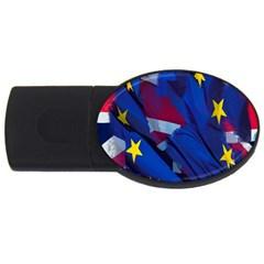 Brexit Referendum Uk USB Flash Drive Oval (2 GB)