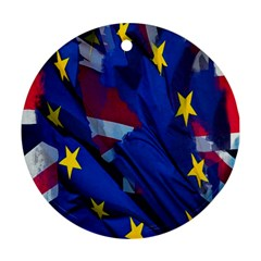 Brexit Referendum Uk Round Ornament (Two Sides)