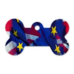 Brexit Referendum Uk Dog Tag Bone (one Side)