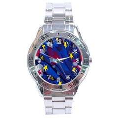 Brexit Referendum Uk Stainless Steel Analogue Watch