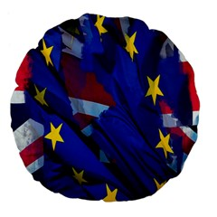 Brexit Referendum Uk Large 18  Premium Flano Round Cushions