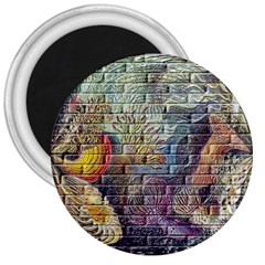 Brick Of Walls With Color Patterns 3  Magnets