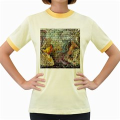 Brick Of Walls With Color Patterns Women s Fitted Ringer T-Shirts