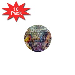 Brick Of Walls With Color Patterns 1  Mini Magnet (10 pack)